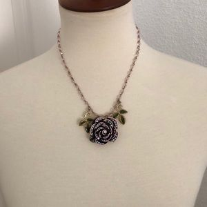 Betsy Johnson Rose Necklace